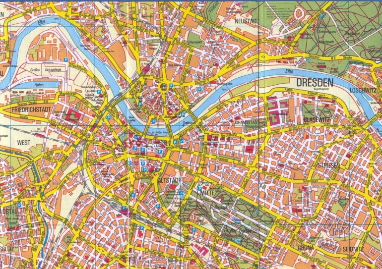 Large Dresden Maps For Free Download And Print | High-Resolution And intended for Dresden Germany City Map