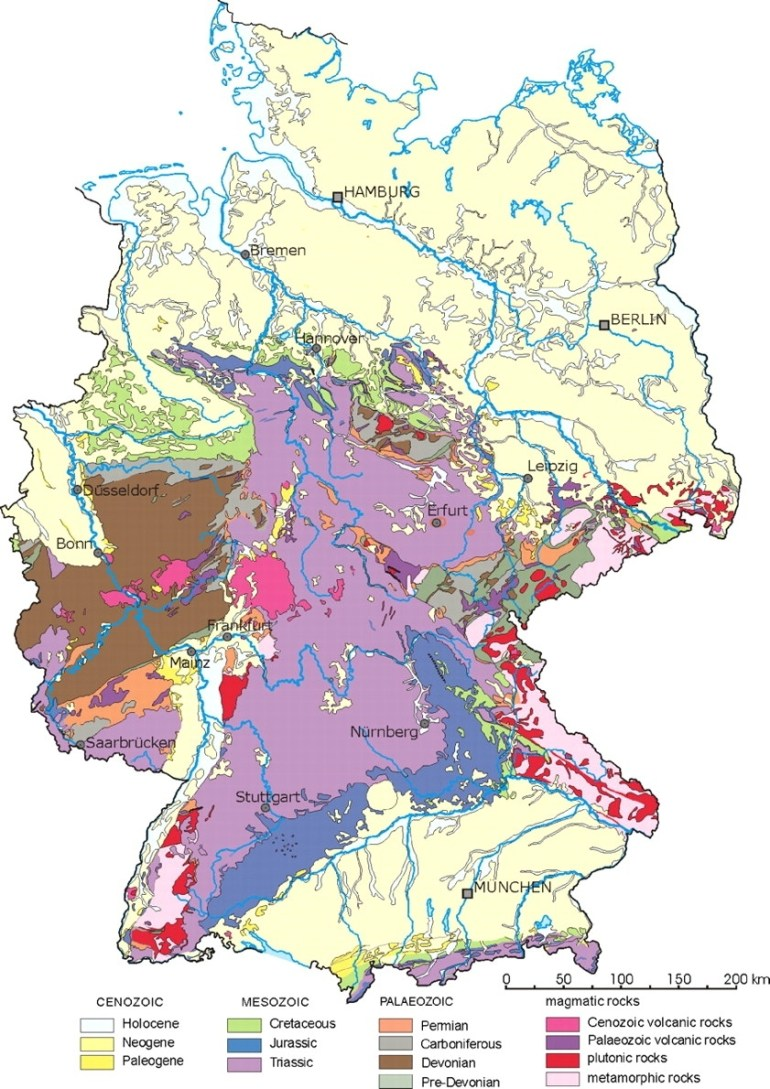 Limestones In Germany Used As Building Stones: An Overview regarding Geological Map Of Germany