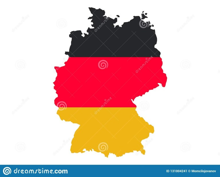 Map And Flag Of Germany Stock Vector. Illustration Of Germany inside Germany Map And Flag