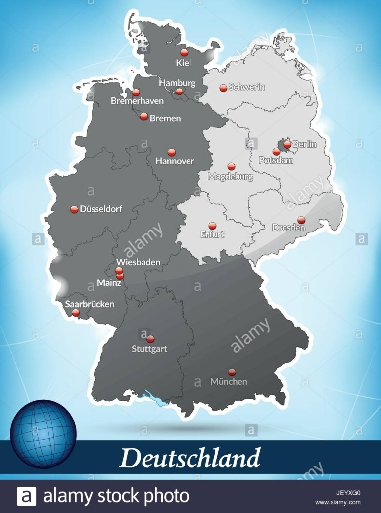 Map Of Divided Germany Stock Vector Art & Illustration, Vector Image throughout Map Of Divided Berlin Germany
