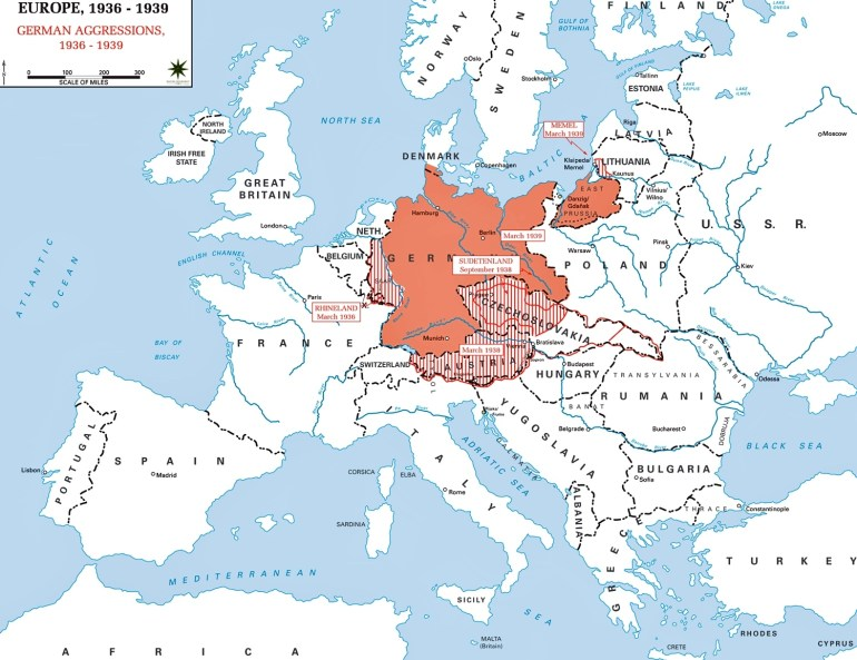 Map Of Europe 1936-1939 intended for Germany Map Before World War 2