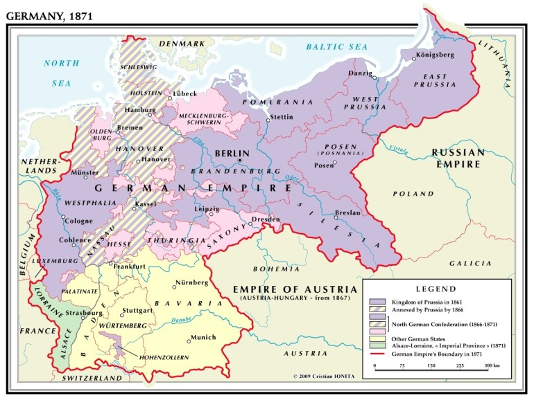 Map Of German Unification - Lgq for Map Of Germany Before Unification