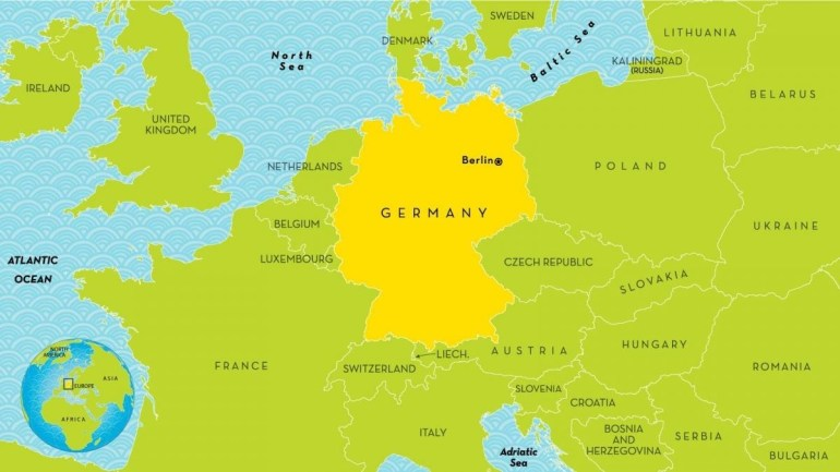 Map Of Germany And Surrounding Countries - Germany And Surrounding within Map Of Germany And Countries Surrounding It