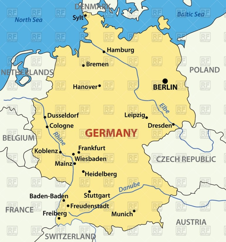 Map Of Germany Stock Vector Image intended for Germany Map Vector Free Download