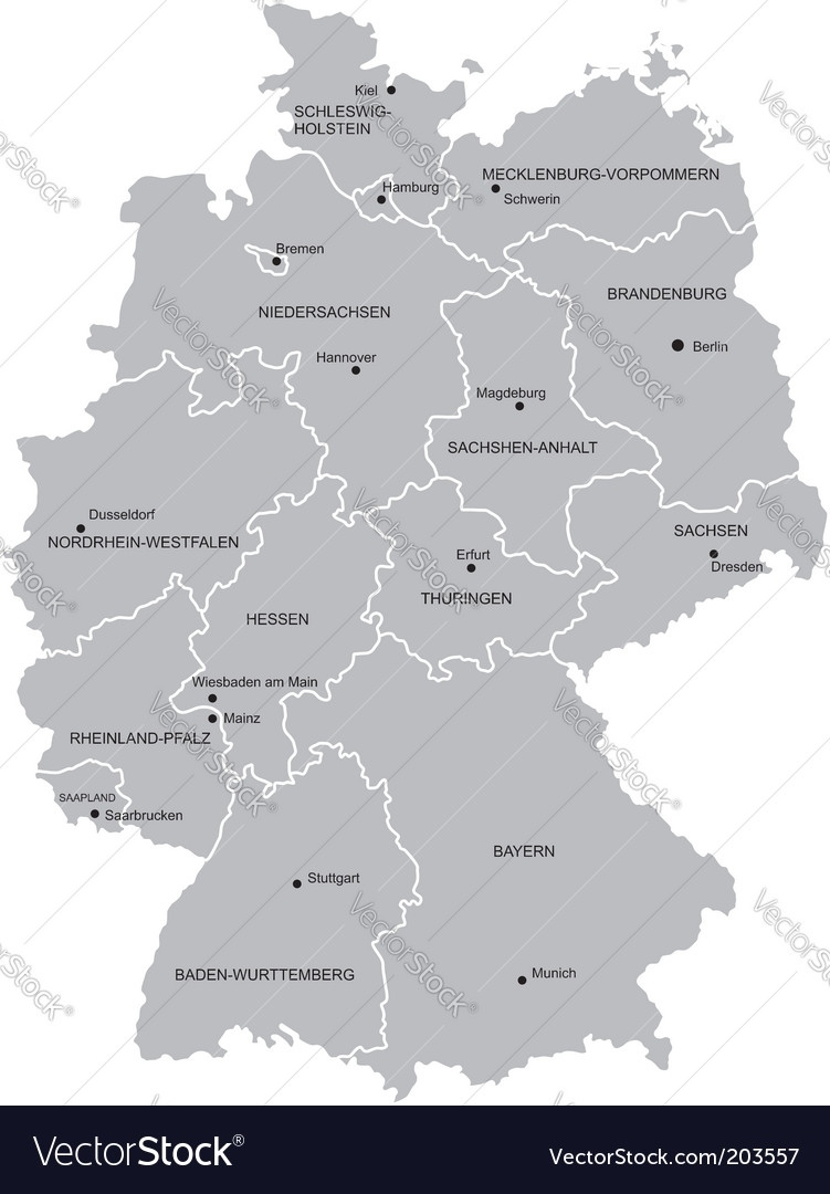 Map Of Germany with Germany Map Vector Free Download