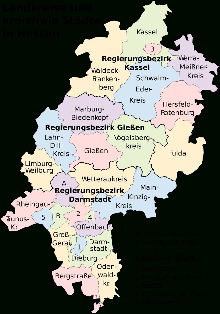 Map Of Hesse 2008 - Full Size | Gifex within Hessen Germany Map
