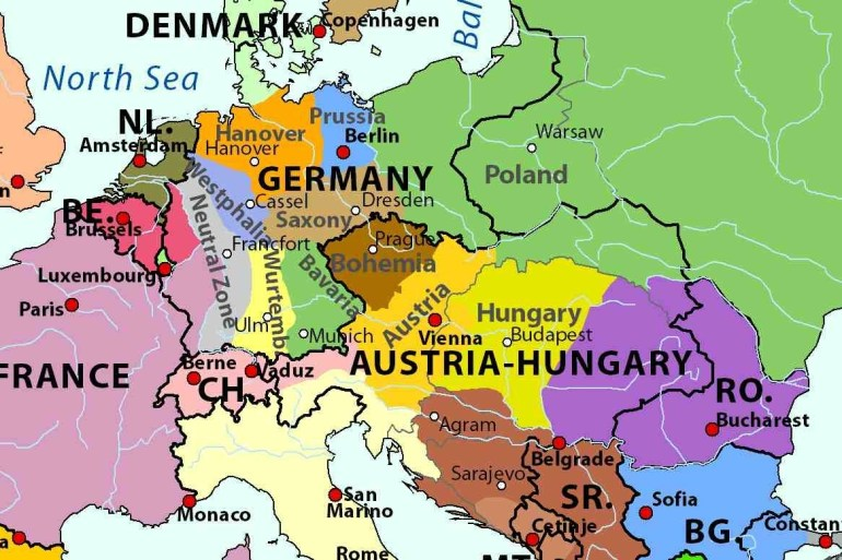 Map Of Hungary Austria Germany | Download Them And Print regarding Map Of Germany Austria And Hungary