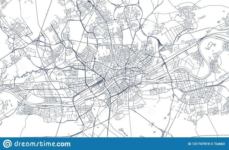 Map Of The City Of Frankfurt Am Main, Hesse, Germany Stock Vector with Frankfurt Hesse Germany Map