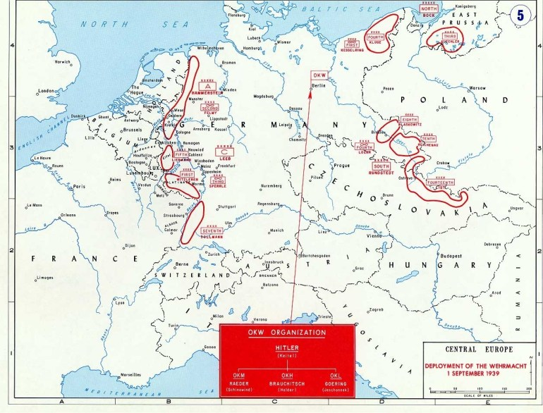 Map Of The German Invasion Of Poland (September 1939) for Germany Map 1939