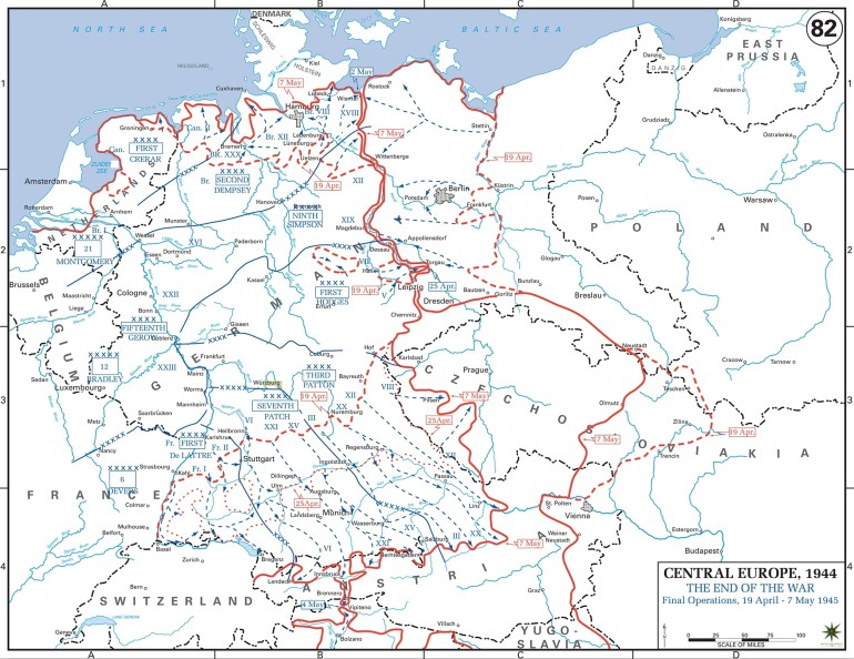 Map Of Wwii: Germany May 1945 intended for Map Of Germany During World War Two