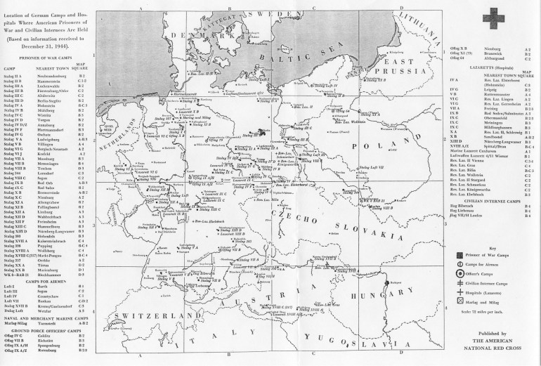 Maps Of German World War Ii Prisoner Of War Camps with regard to Map Of Germany During World War 2
