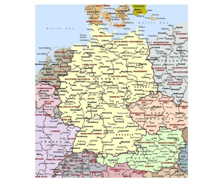 Maps Of Germany | Collection Of Maps Of Germany | Europe | Mapsland with regard to Detailed Map Of Germany In English