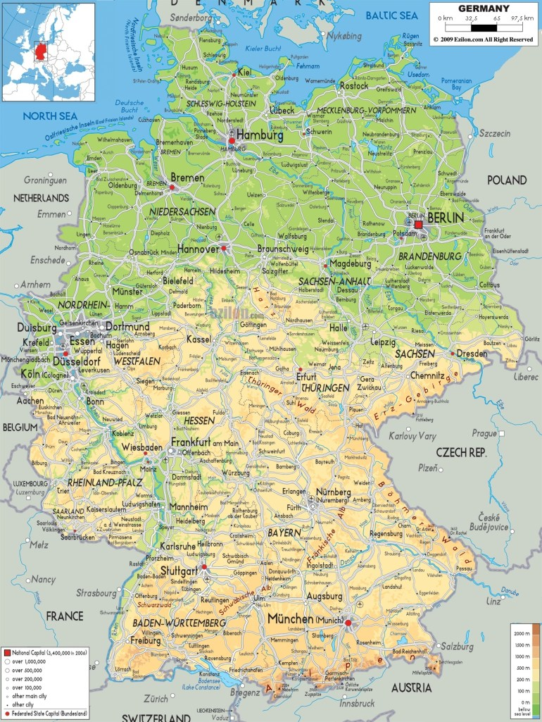 Maps Of Germany | Detailed Map Of Germany In English | Tourist Map in Detailed Map Of Germany In English