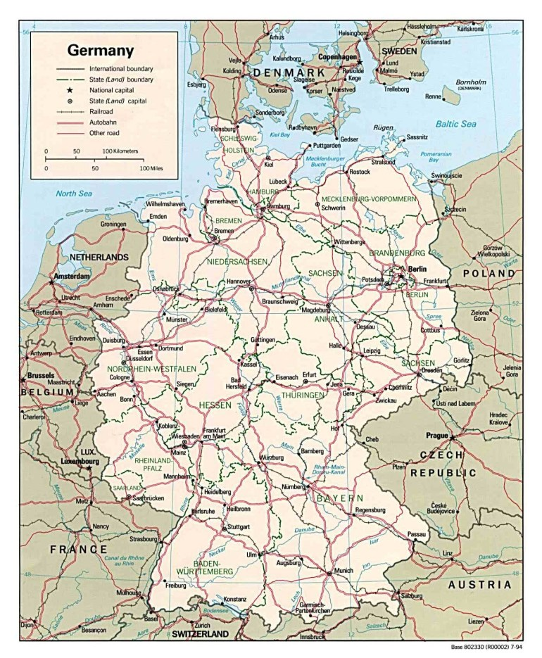 Maps Of Germany | Detailed Map Of Germany In English | Tourist Map regarding Map Of Germany In English
