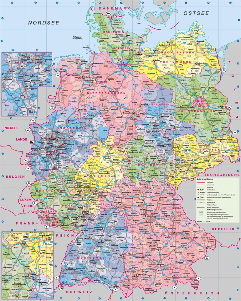 Maps Of Germany | Detailed Map Of Germany In English | Tourist Map with regard to Free Map Of Germany With Cities And Towns