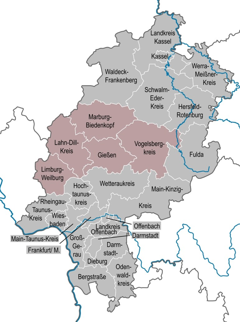 Middle Hesse - Wikipedia with regard to Kassel Hessen Germany Map