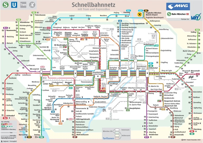 Munich Train Map with Germany Train Map Cities