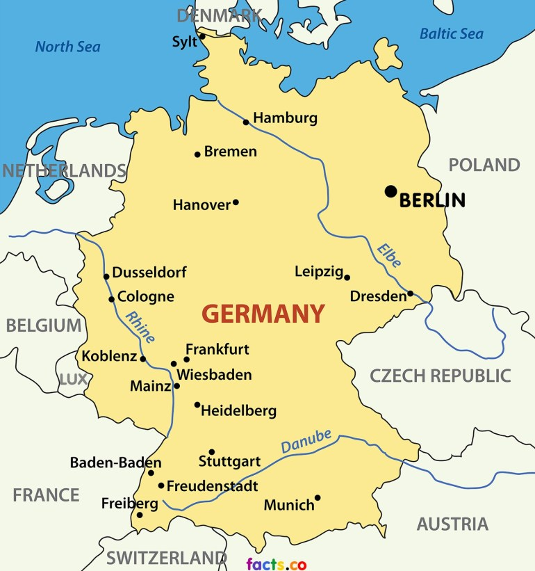 Nikki Green- Ncc Germany : Germany Blog #2 throughout Map Of Germany And Countries Surrounding It