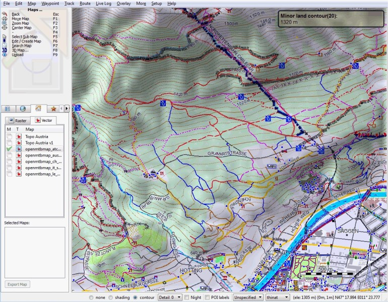 Openmtbmap - Mountainbike And Hiking Maps Based On Openstreetmap with Garmin Germany Map
