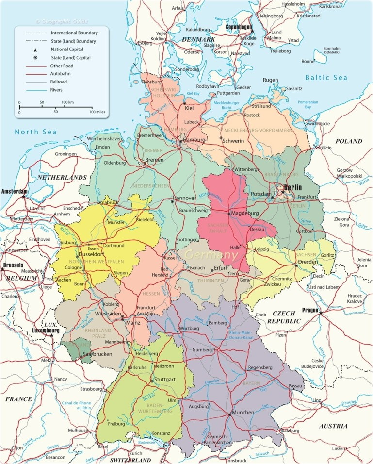 Political Map Of Germany regarding Political Map Of Germany In English