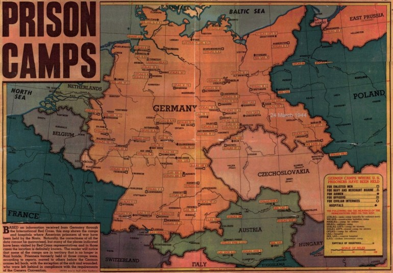 Pow Camps with Map Of Concentration Camps In Germany And Poland