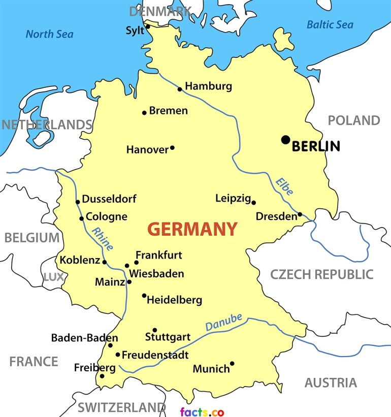 Printable German Map And Travel Information | Download Free throughout Free Printable Map Of Germany
