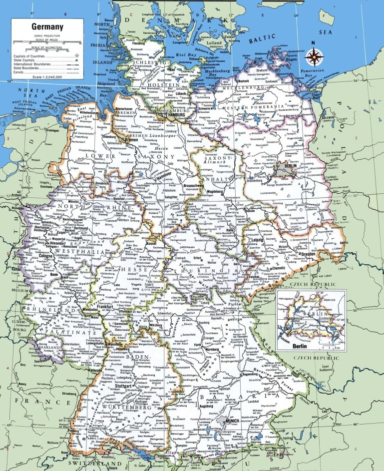 Printable Map Of Germany With Cities And Towns | Printable Maps | A with regard to Germany Outline Map With Cities