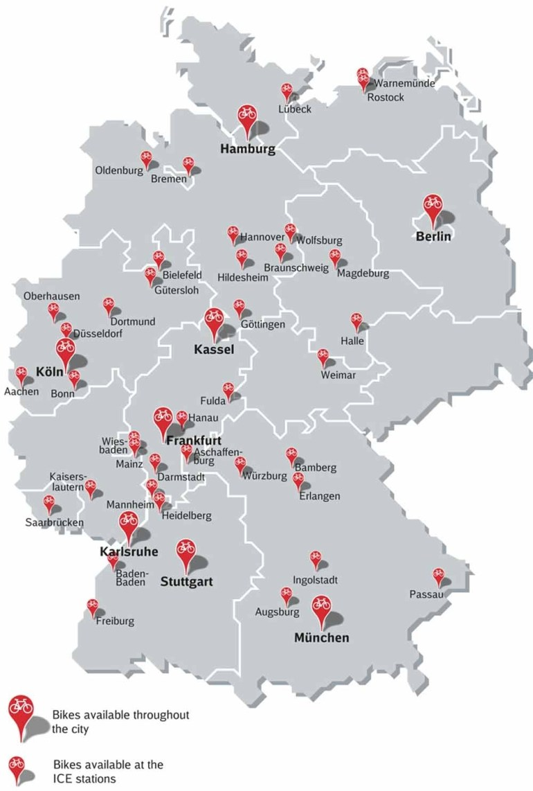 Rent Bicyclesthe Day pertaining to Southern Germany Map Cities