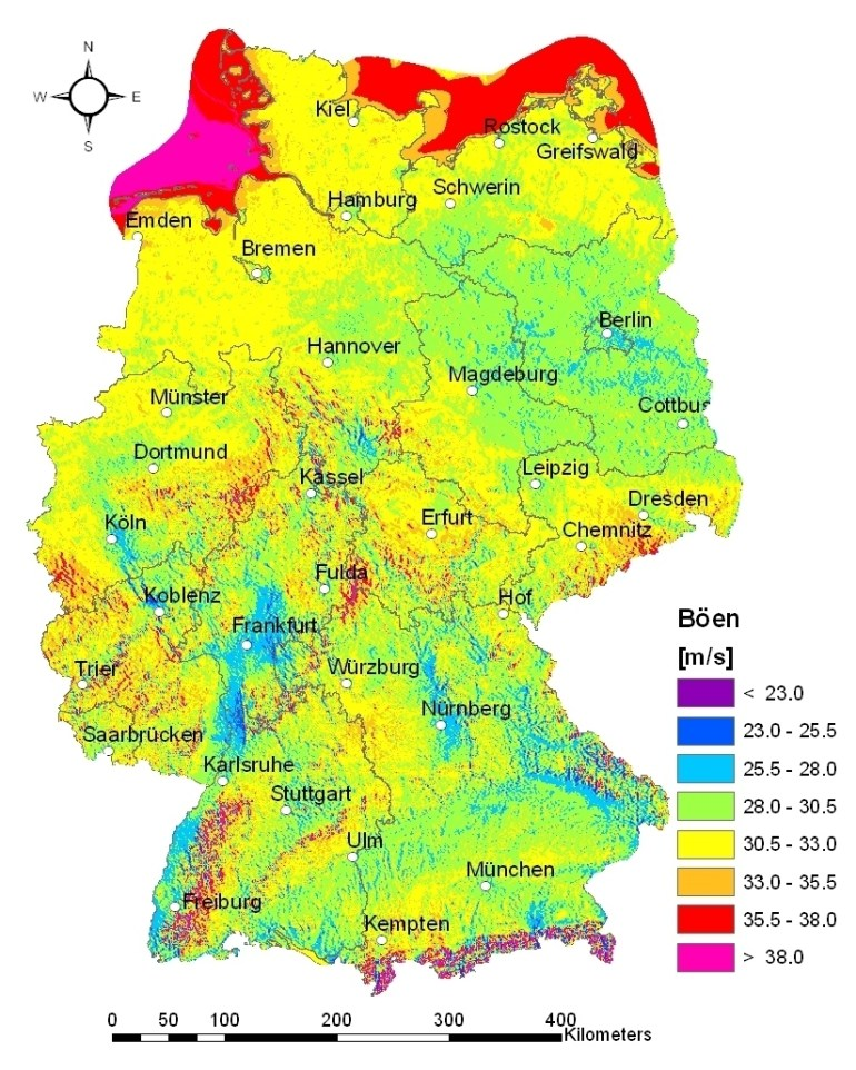 Research - Working Groups - Atmospheric Risks - Projects - Storm regarding Germany Climate Zone Map