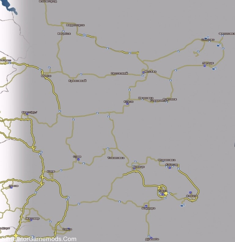 Russian Map For Gts | Simulator Games Mods Download pertaining to German Truck Simulator Map