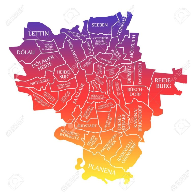 Stock Illustration within Halle Germany Map
