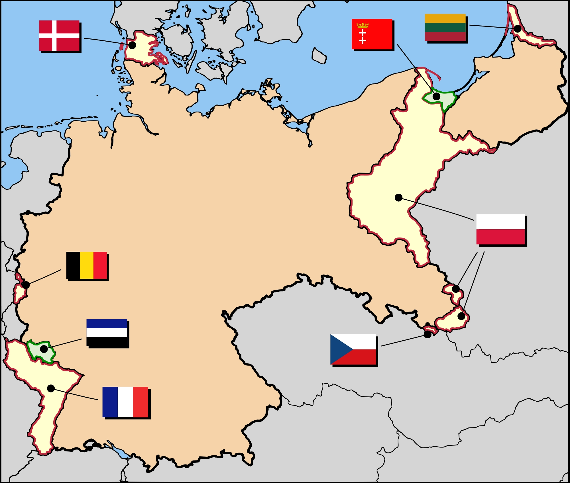 Territorial Evolution Of Germany - Wikipedia throughout Germany Map Before Ww2 And After
