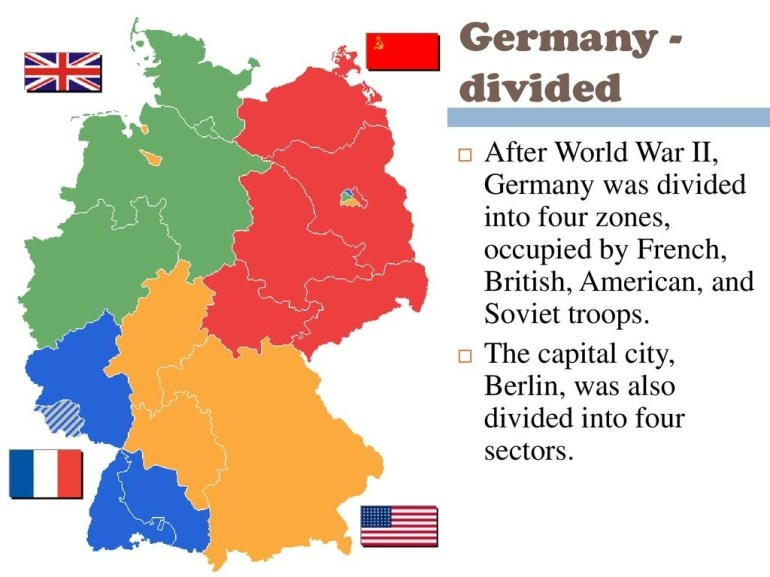 The Beginning Of The Cold War - Ppt Download intended for Map Of Germany Divided After Ww2