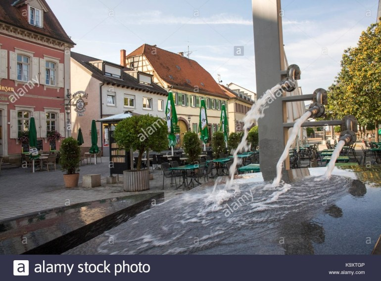 The Haupt Strasse In Walldorf,baden-Württemberg, Germany Stock Photo intended for Stadtplan Walldorf Baden-Württemberg