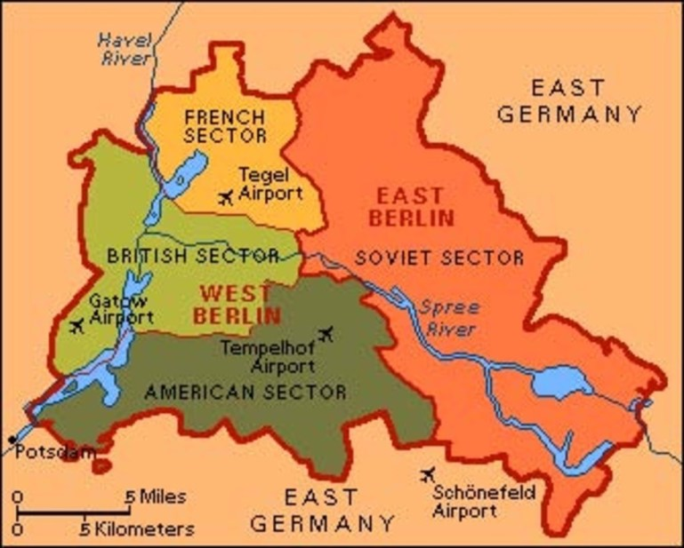Things Have Changed: Berlin Divides pertaining to Map Of Divided Berlin Germany
