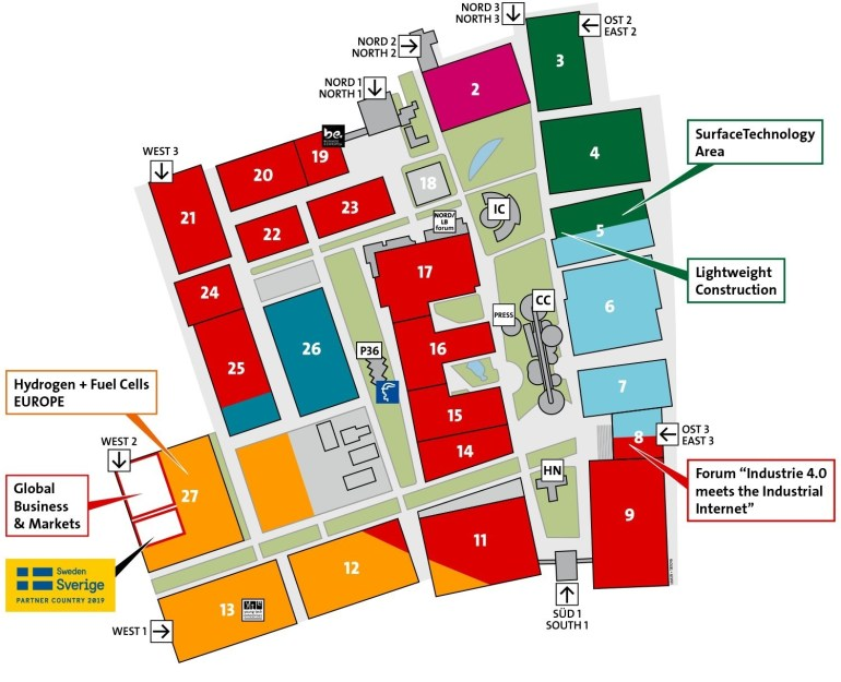 Top 10 Punto Medio Noticias | Hannover Messe Fair Map for Hannover Messe Map Germany