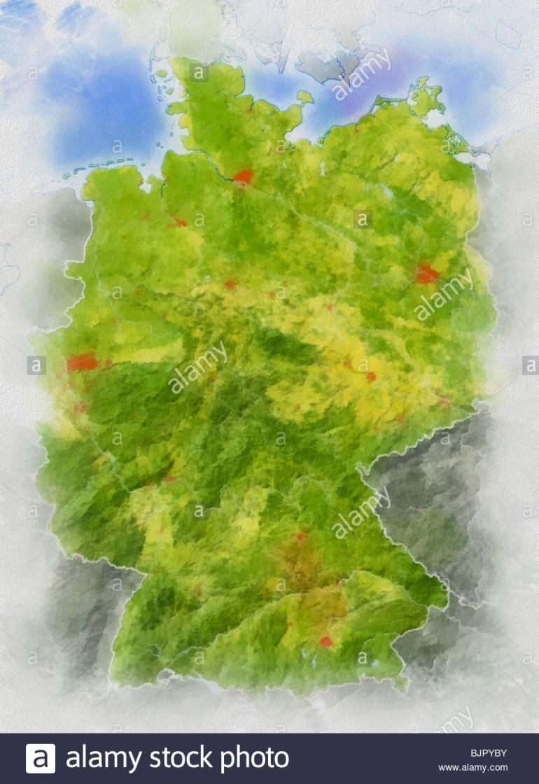 Topographic Map Germany Stock Photos & Topographic Map Germany Stock regarding Germany Topographic Map