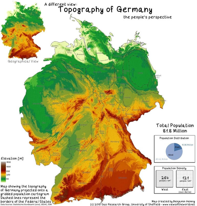 Topography Map Of Germany | Antioxidansmeres regarding Topographic Map Of Germany In English