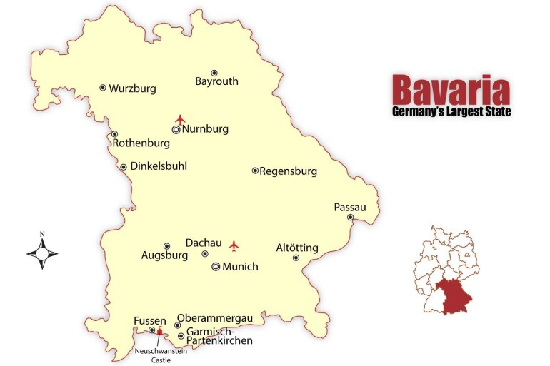 Travel To The Best Bavarian Cities: Munich And Nuremberg with Detailed Map Of Bavaria Germany