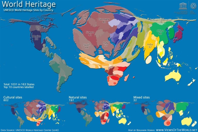 Unesco World Heritage Sitescountry. : Mapporn pertaining to Germany World Heritage Sites Map