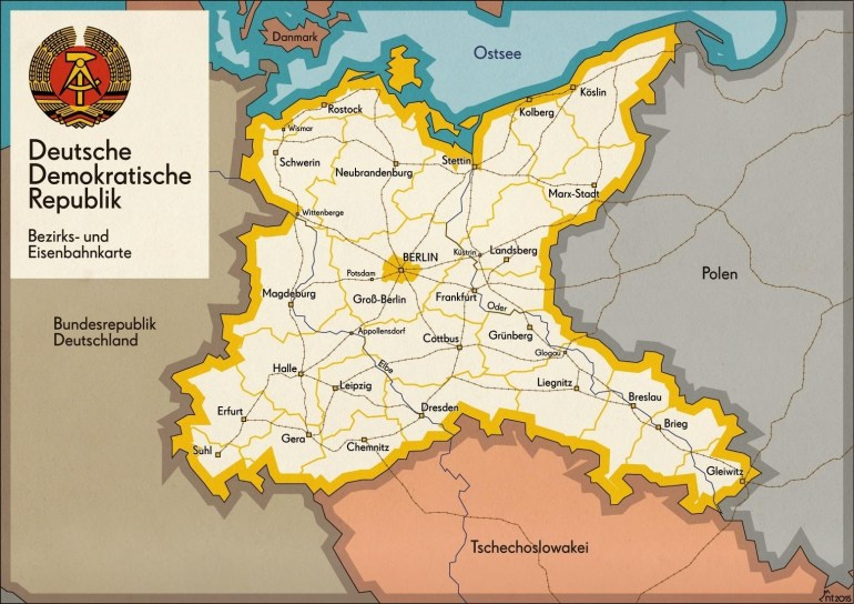 What If This Was The Map Of East Germany? : Alternatehistory for East Germany Map