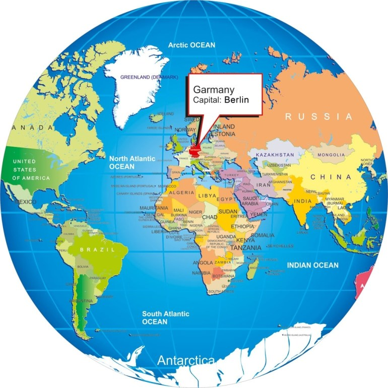 Where Is Germany inside Germany Map In World Map