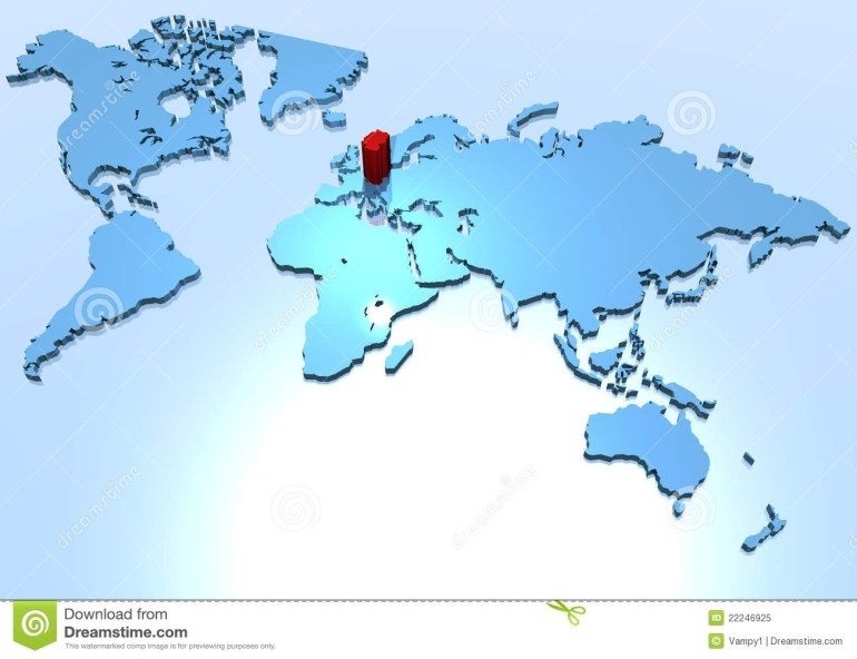 World Map, Country Of Germany Stock Illustration - Illustration Of within World Map With Germany Highlighted