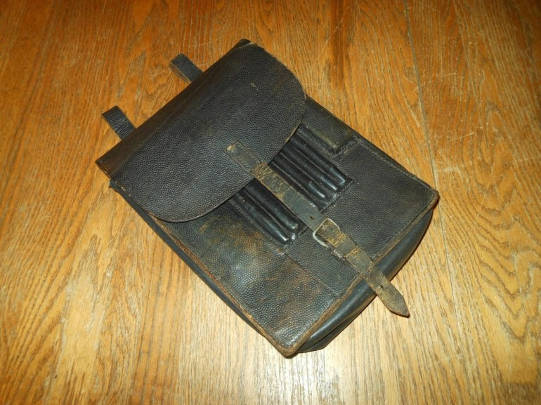 Ww2 Luftwaffe Wehrmacht M35 Leather Map / Dispatch Case & Contents #- Very  Nice! inside Ww2 German Map Case Contents