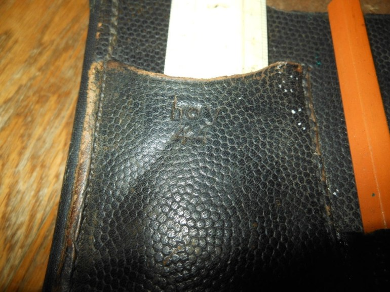 Ww2 Luftwaffe Wehrmacht M35 Leather Map / Dispatch Case & Contents #- Very  Nice! throughout Ww2 German Map Case Contents