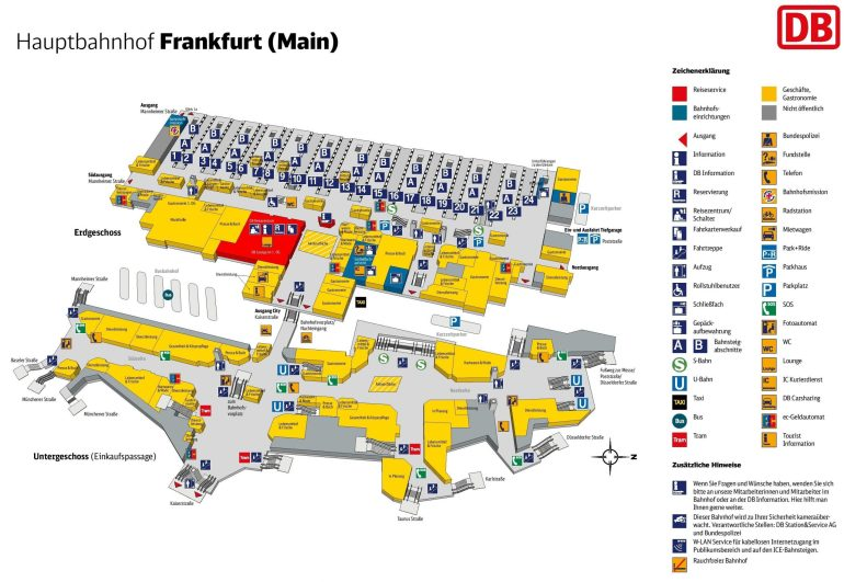 Frankfurt Hauptbahnhof Map (Central Train Station) pertaining to Stuttgart Bahnhof Google Maps