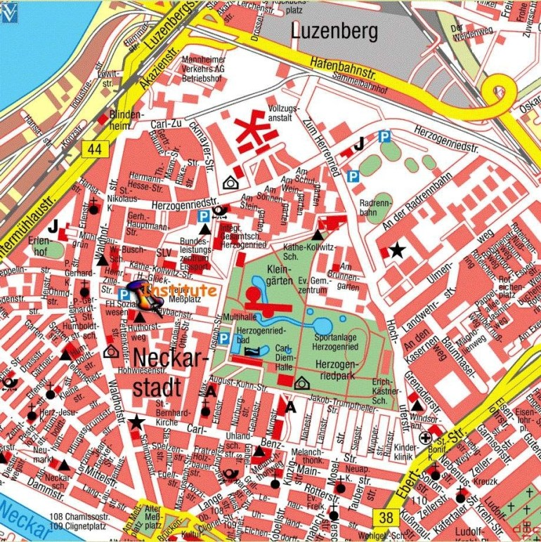Large Mannheim Maps For Free Download And Print | High with Stuttgart City Centre Map