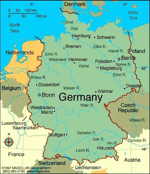 Map Of Germany With Cities | Map Of Germany Showing inside Stuttgart Hamburg Google Maps
