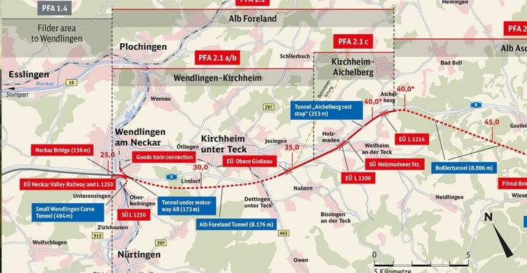 Route Map with Stuttgart Train Map English