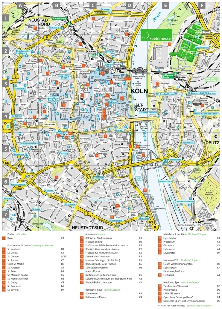 The Alternative Guide To A Weekend In Cologne   That within Stuttgart City Tourist Map